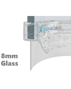 Curved Shower Seal H1 8mm Glass